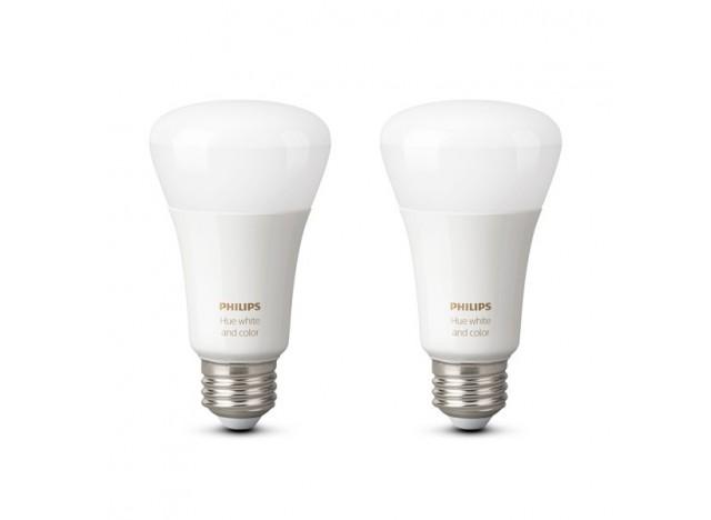 Philips hue 2 Lampadine led E27 9,5 w White and Color Ambiance