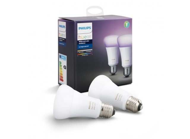 Philips hue 2 Lampadine led E27 9,5 w White and Color Ambiance