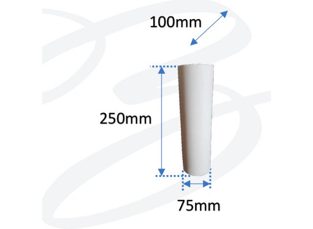 applique in gesso cilindro biemissione