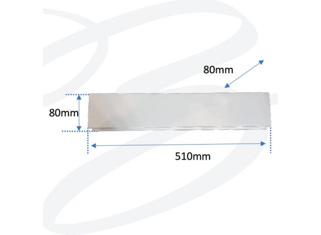 applique in gesso modello rettangolare plexiglass grande