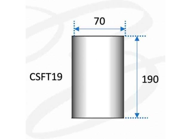 plafoniera da soffitto in gesso modello fantasia a cilindro