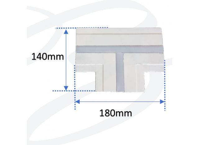 profilo soffitto spessore stretto modello a T