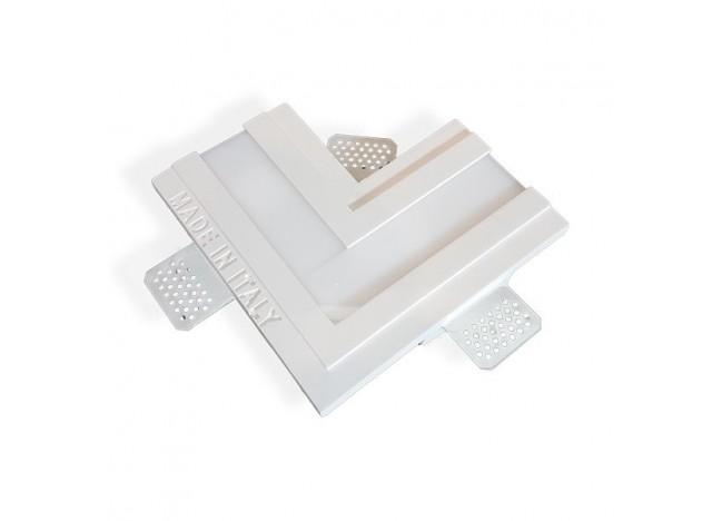 profilo in gesso ad incasso a soffitto largo accessorio a forma di L