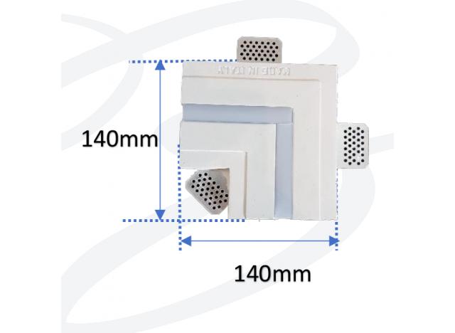 profilo in gesso a incasso da soffitto stretto accessorio modello a L