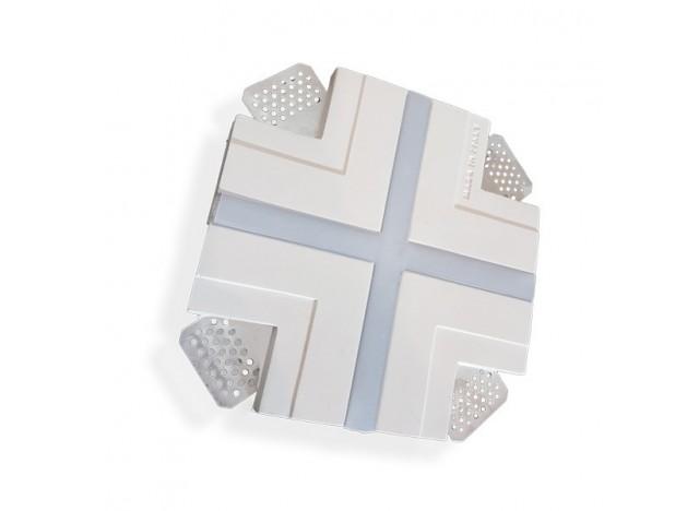 profilo in gesso ad incasso a soffitto stretto accessorio modello a X