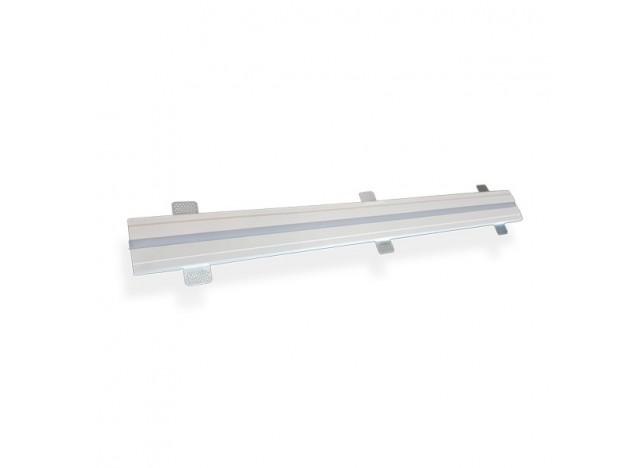 profilo lineare in gesso ad incasso a soffitto stretto accessorio