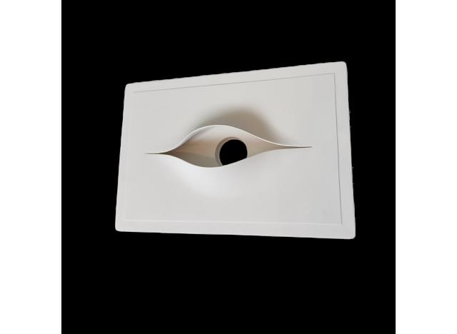 faretto fisso in gesso incasso modello rettangolare occhio