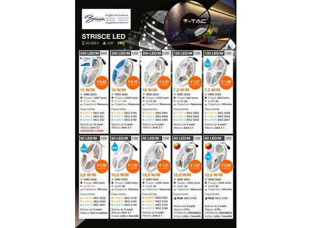 Strisce LED rgb strip adesive v-tac