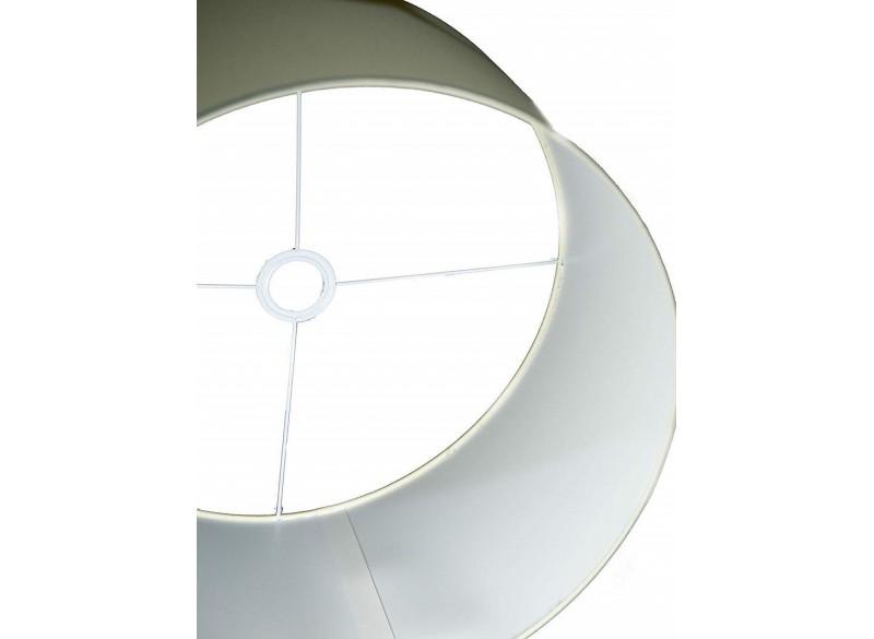 Lampada a sospensione cilindro in tessuto colore avorio chiaro