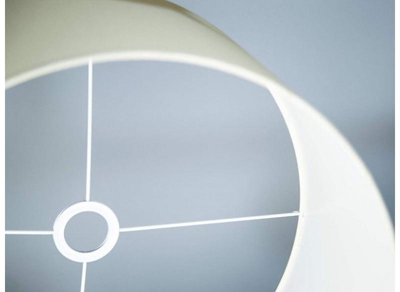Lampada a sospensione cilindro in tessuto colore avorio