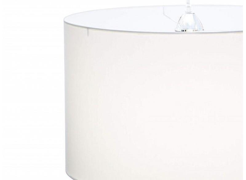 lampada a sospensione cilindro in tessuto colore bianco