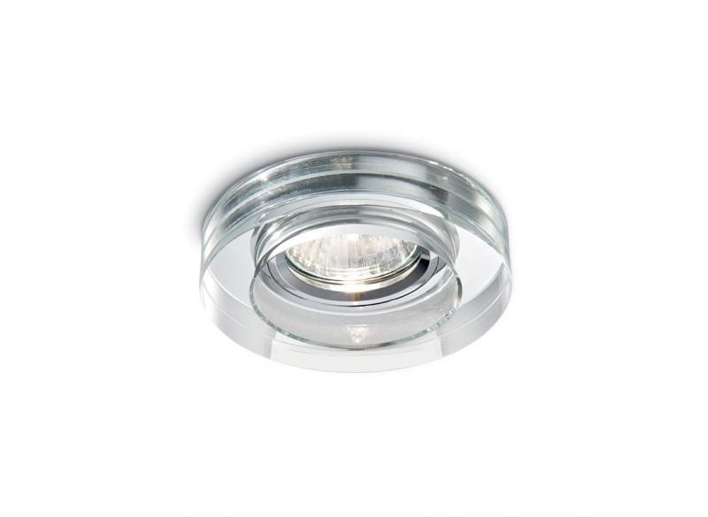 Faretto incasso led tondo vetro trasparente ideal lux blues round
