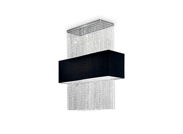 lampadario gocce nero ideal lux