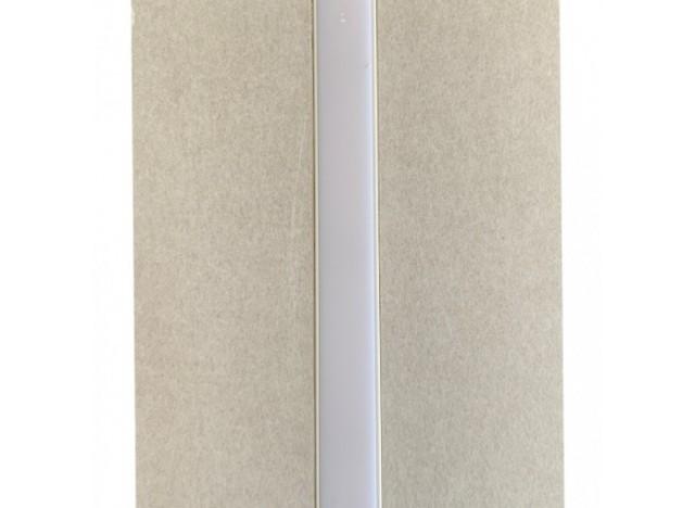 Profilo in cartongesso con anima in alluminio e diffusore in policarbonato opale bianco. Lunghezza 2 metri