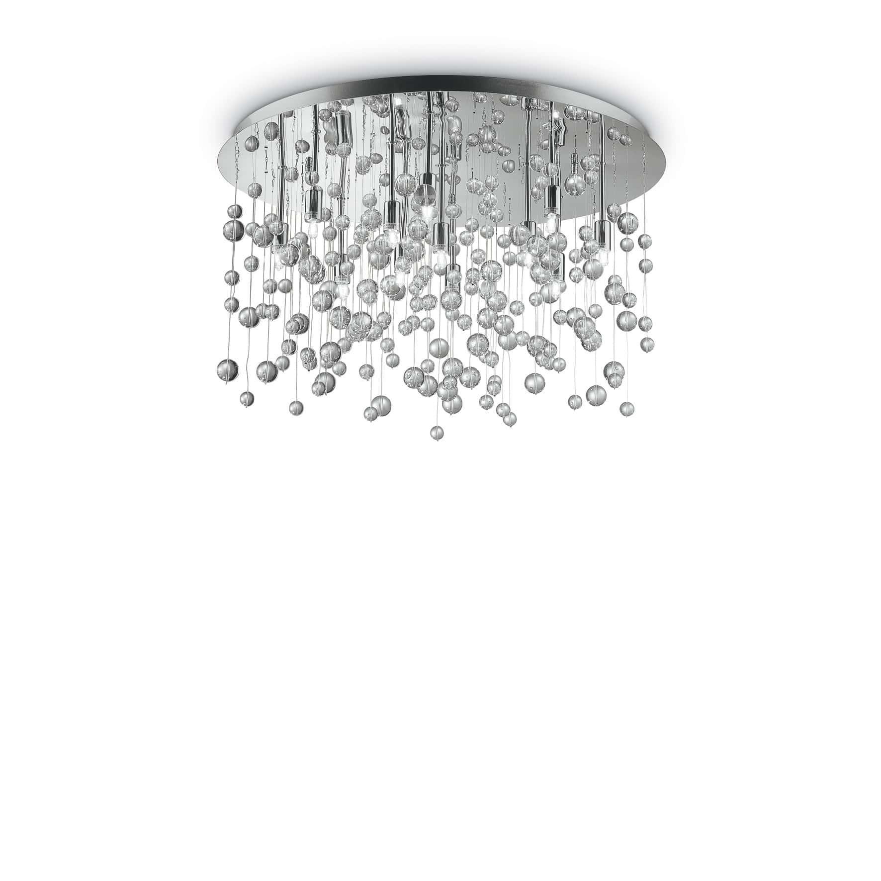 Lampadari In Camera Da Letto ideal lux lampadario neve pl 12 cromo moderno a soffitto prezzo