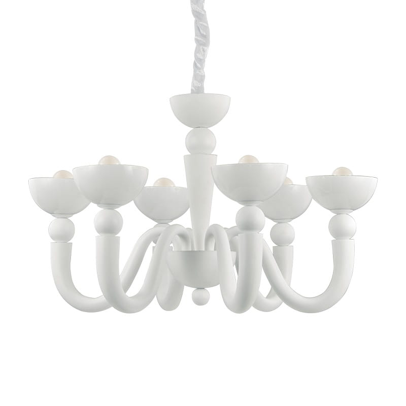 Lampadari a soffitto per cucina ideal lux bon bon sp6 bianco - Lampadari a soffitto per cucina ...