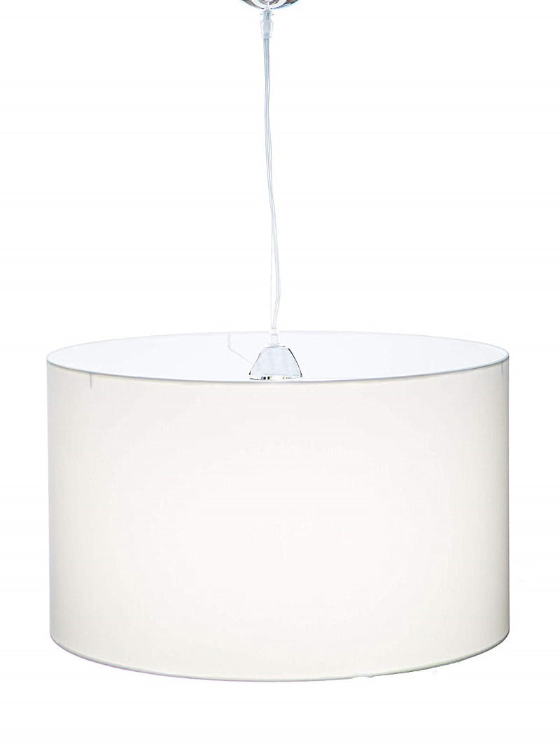Lampadari Per Stanza Ragazzi lampada a sospensione cilindro in tessuto colore bianco