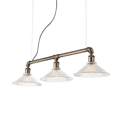 lampadari a sospensione vintage Montatura in metallo con finitura in brunito o vernice nera opaca