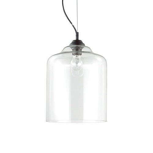 lampadari da cucina ideal lux prezzo Scegli l'eleganza: sospensione in cromo e vetro trasparente soffiato Montatura in metallo verniciato nero. Diffusore in vetro trasparente soffiato e modellato artigianalmente