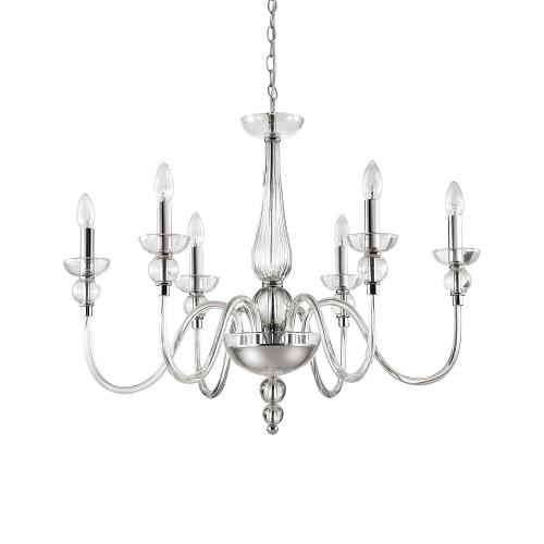 lampadari da salotto a soffitto Montatura e dettagli in metallo rifinito in cromo.