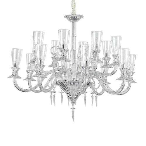 lampadari grandi dimensioni ideal lux Sospensione vetro soffiato lavorato a mano