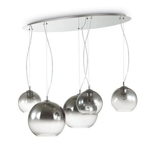 lampadario per camera da letto Sospensioni con cavi in acciaio a lunghezza regolabile da dispositivi ferma cavo automatici.